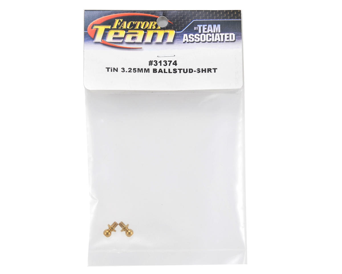 Team Associated 3.25mm Factory Team Short Neck Ti-Nitride Ball Stud Set (2)