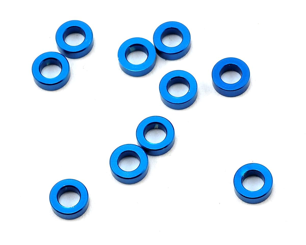 Team Associated RC10 T4.3 5.5x2.0mm Aluminum Ball Stud Washer (Blue) (10)