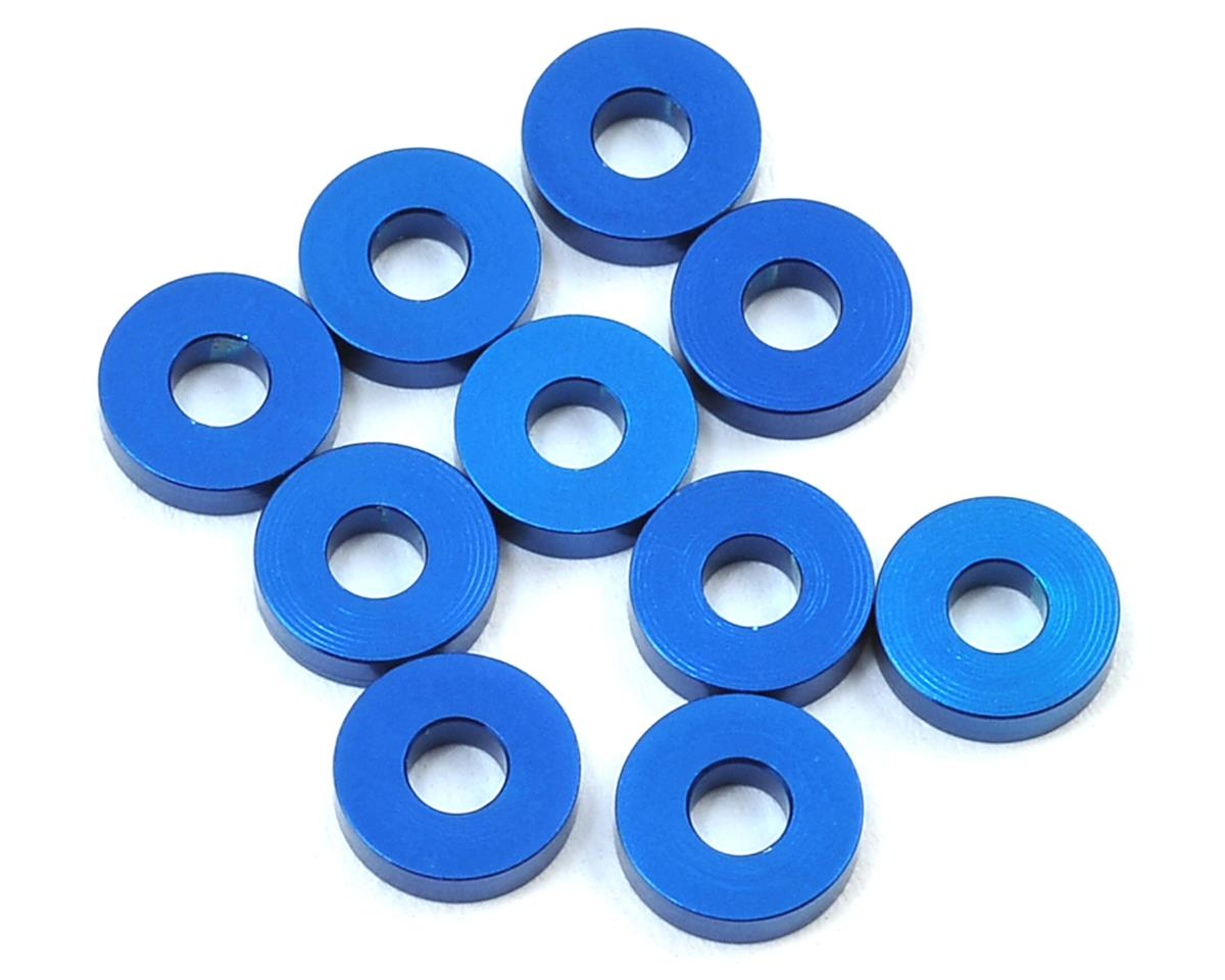 Team Associated RC12 R6 7.8x2.0mm Aluminum Bulkhead Washer (Blue) (10)