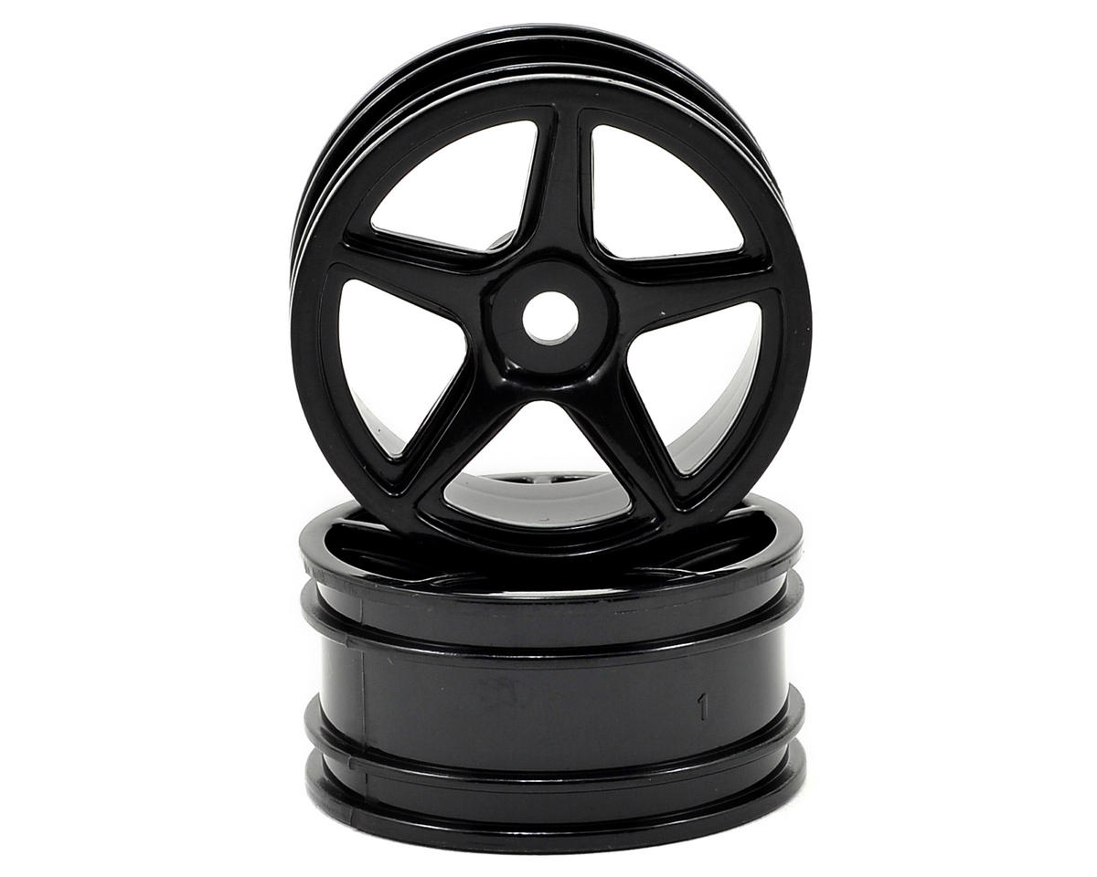 12mm Hex 5-Spoke Wheel (2) (Black) by Team Associated