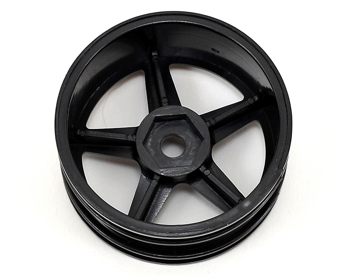 Team Associated 12mm Hex 5-Spoke Wheel (2) (Black)