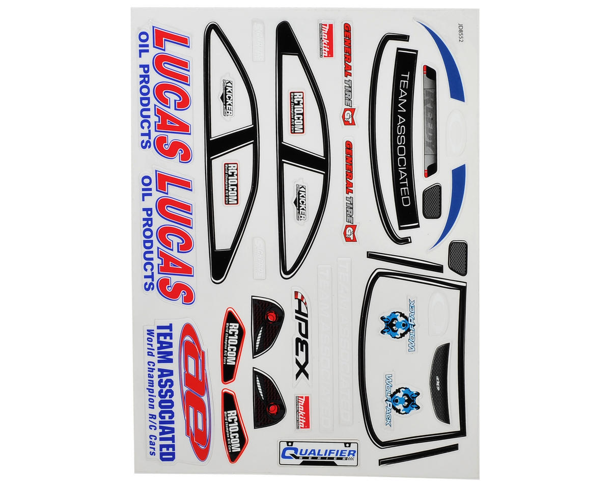 Team Associated APEX Decal Sheet