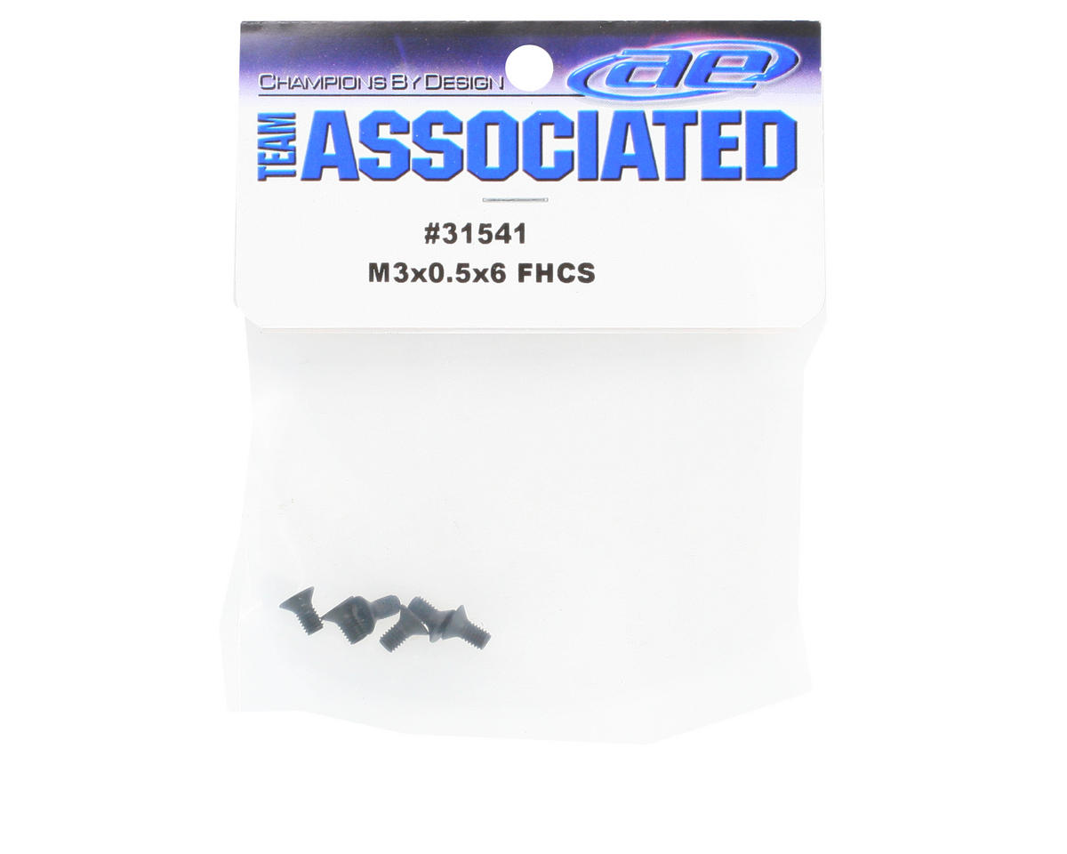 Team Associated 3x0.5x6mm Flat Head Hex Screw (6)