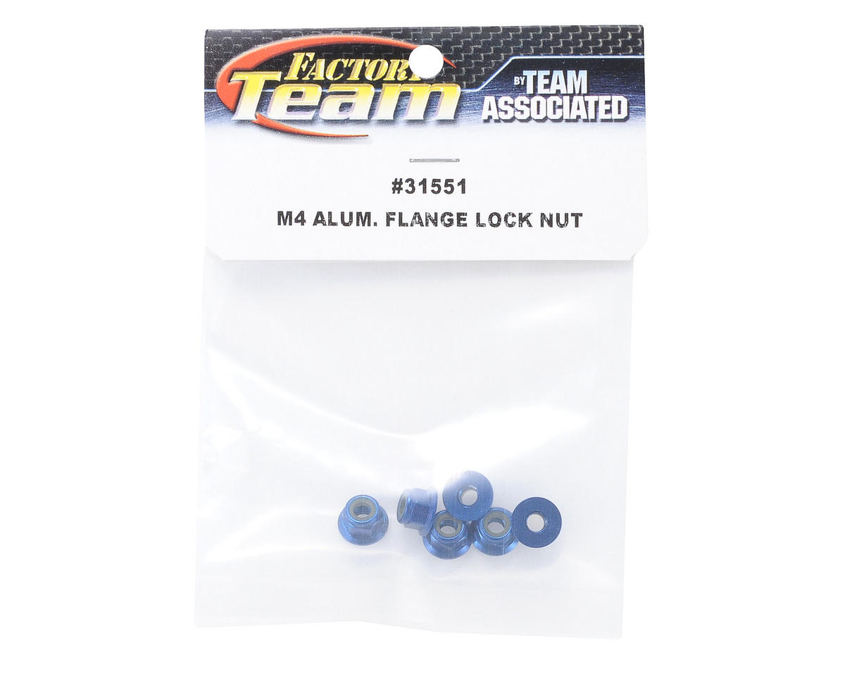 M4 Aluminum Flange Locknut (6) by Team Associated