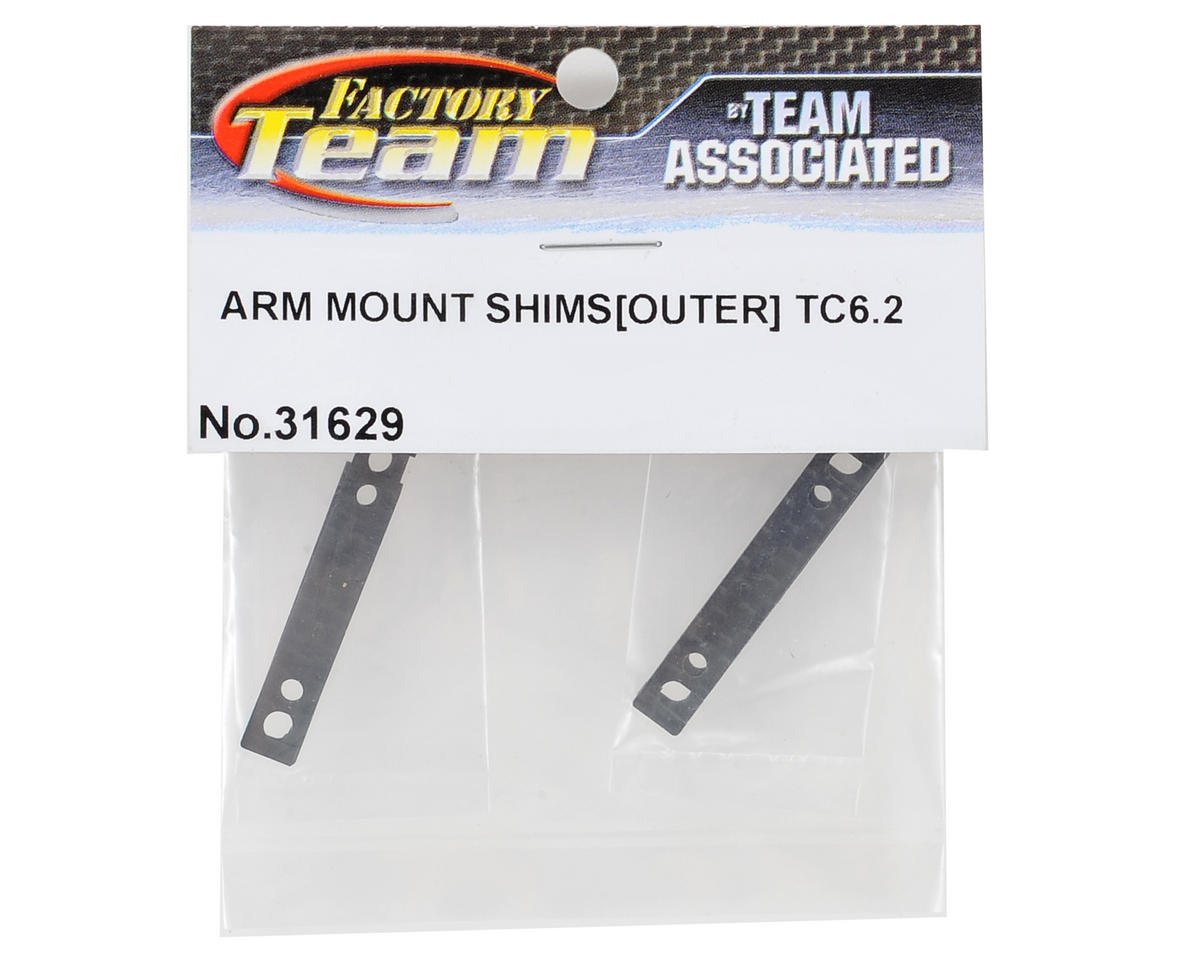 Team Associated TC6.2 Outer Arm Mount Shim Set (4) (1mm/0.5mm)
