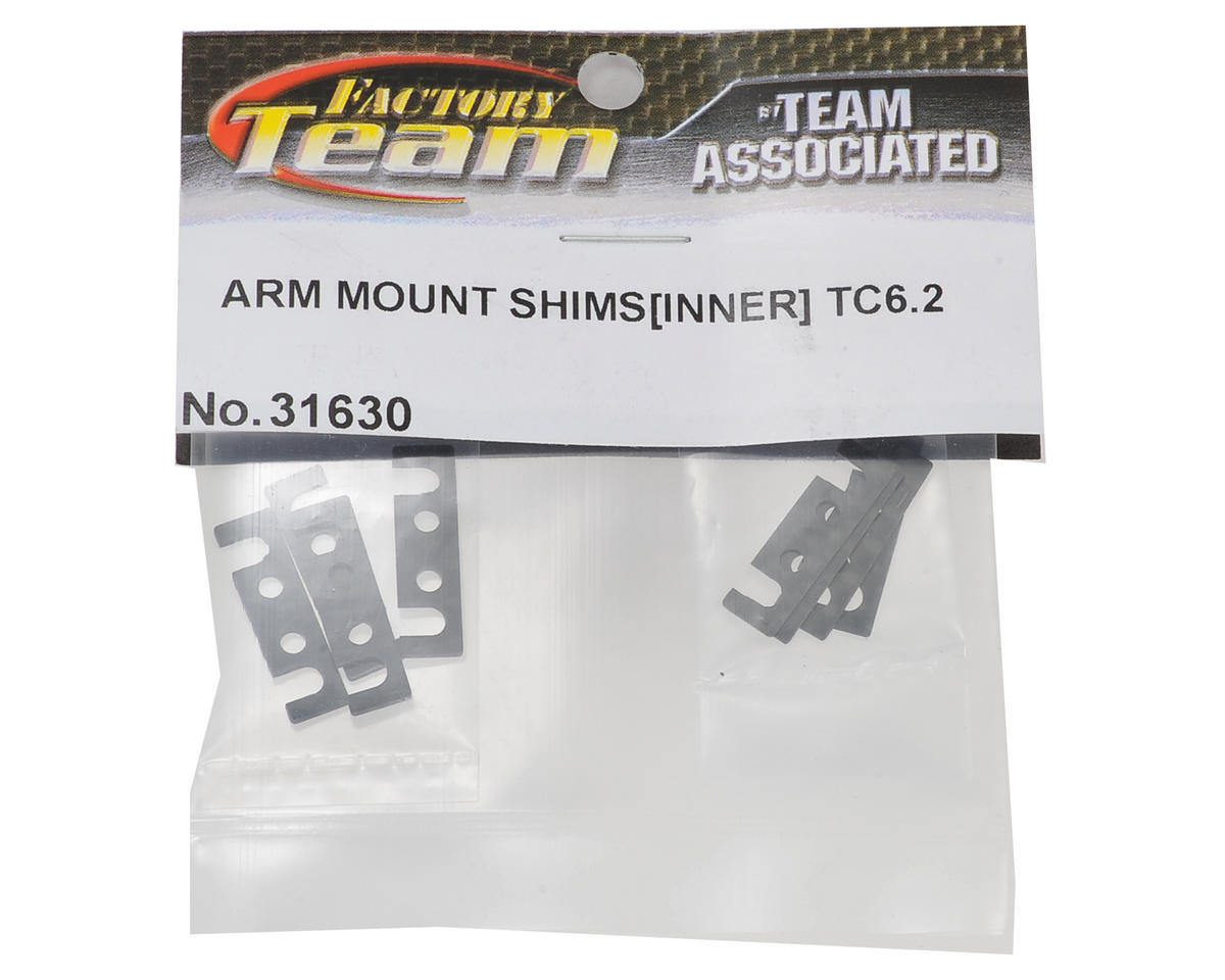 Team Associated TC6.2 Inner Arm Mount Shim Set (8) (1mm/0.5mm)