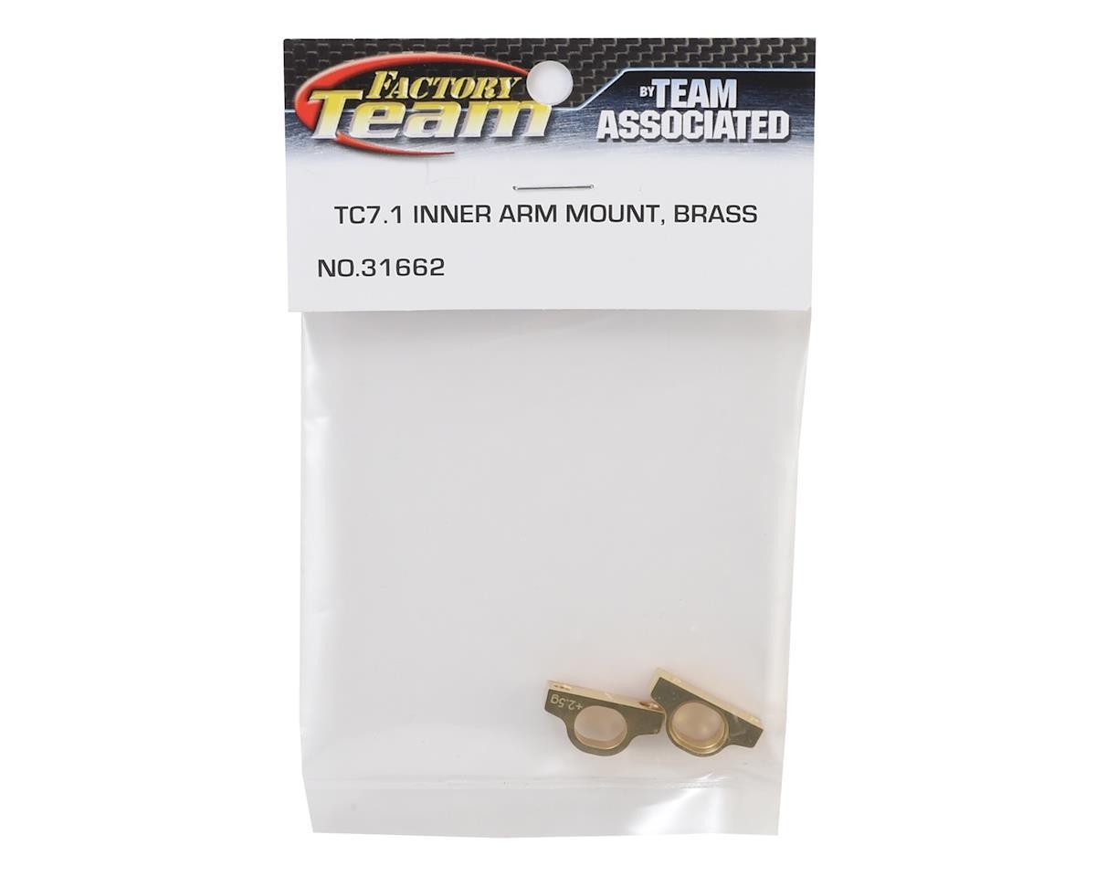 Team Associated TC7.1 Brass Inner Arm Mount Set (5g)