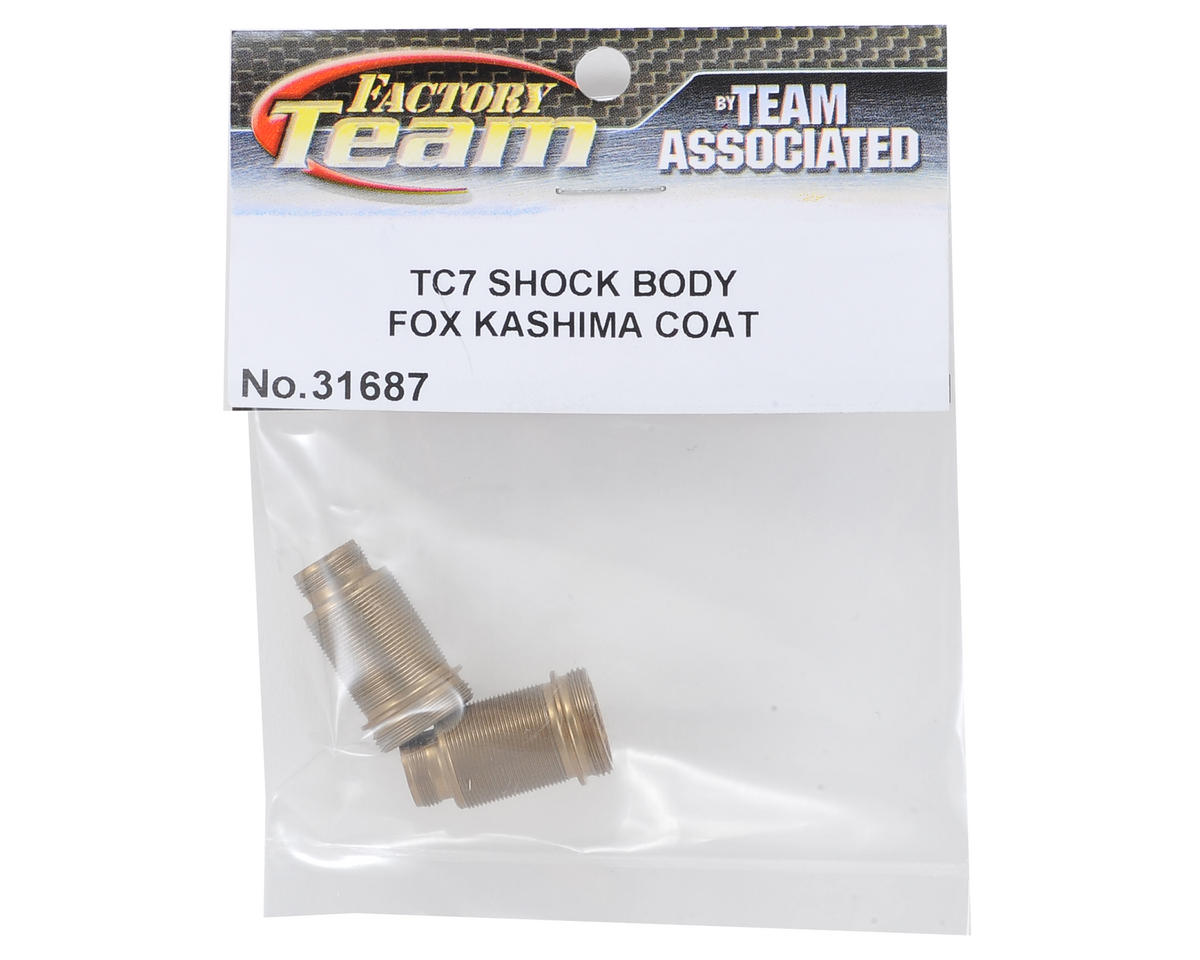 Team Associated Factory Team TC7 Threaded FOX Kashima Coated Shock Bodies (2)