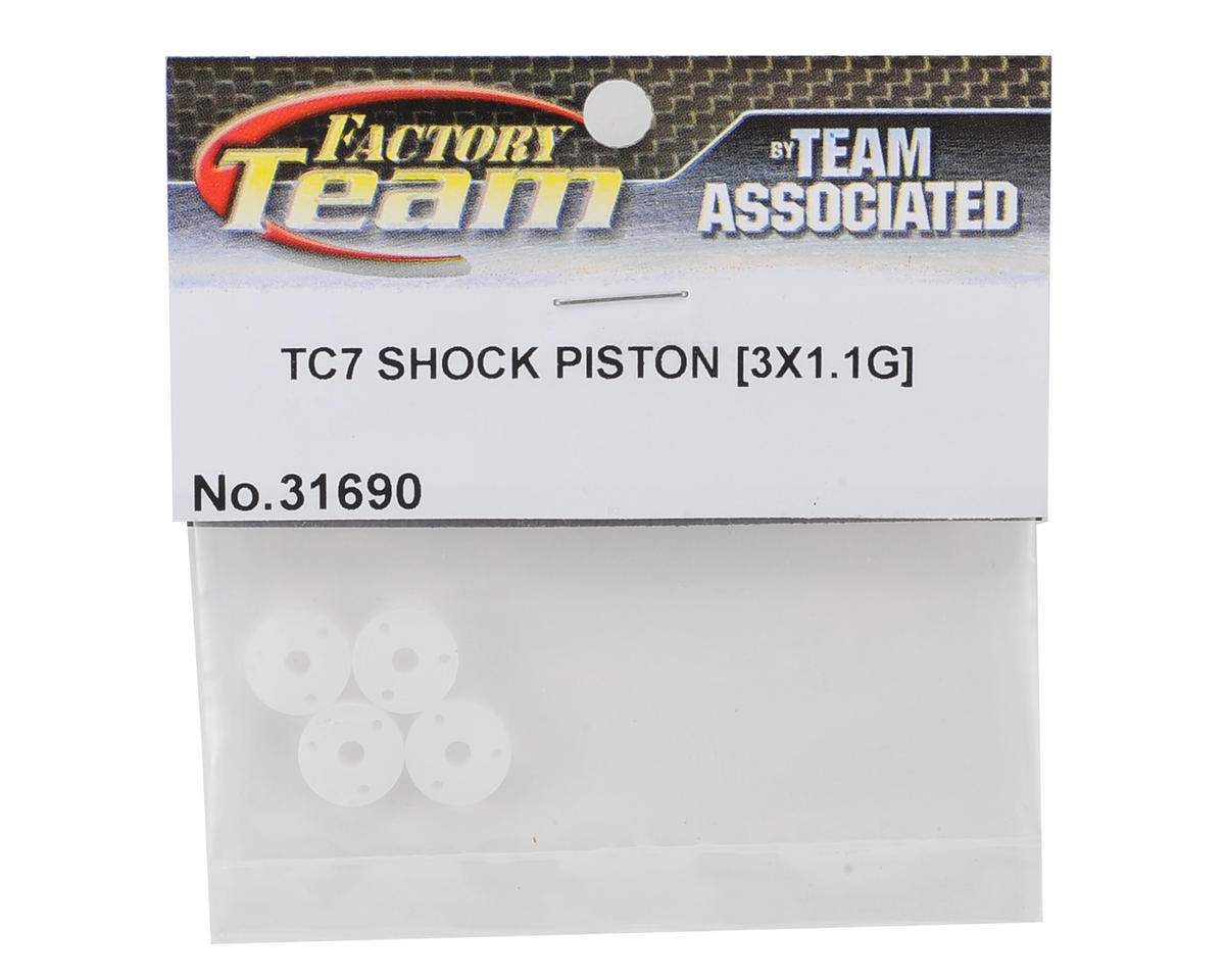 Team Associated Factory Team Shock Pistons w/Groove (3x1.1)