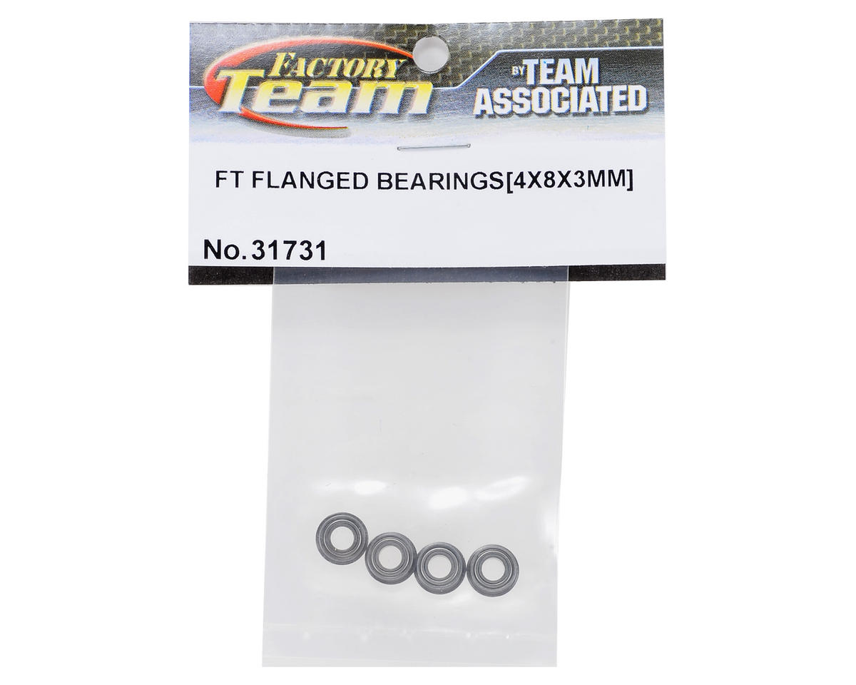 Team Associated TC7 Factory Team 4x8x3mm Flanged Ball Bearings (4)