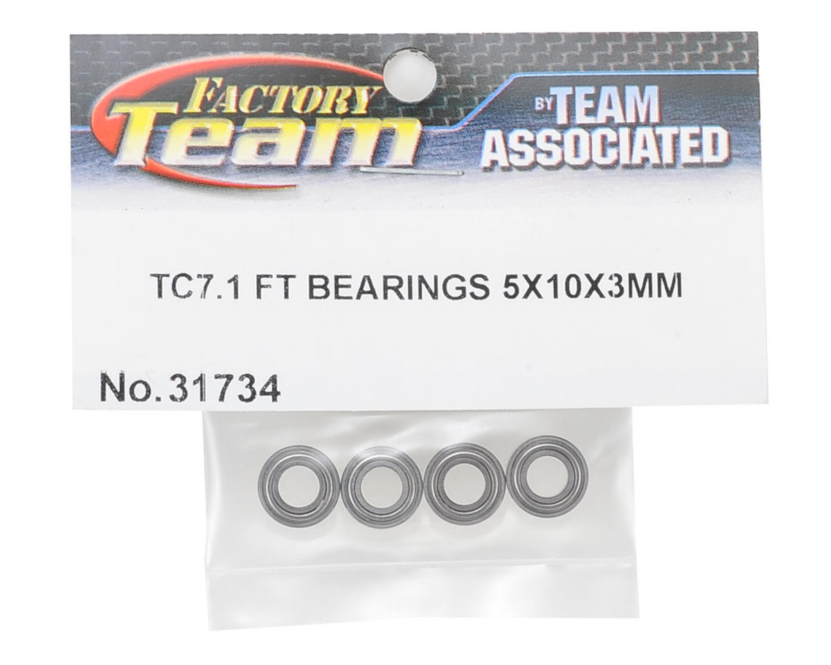 5x10x3mm TC7.1 Factory Team Bearings (4) by Team Associated