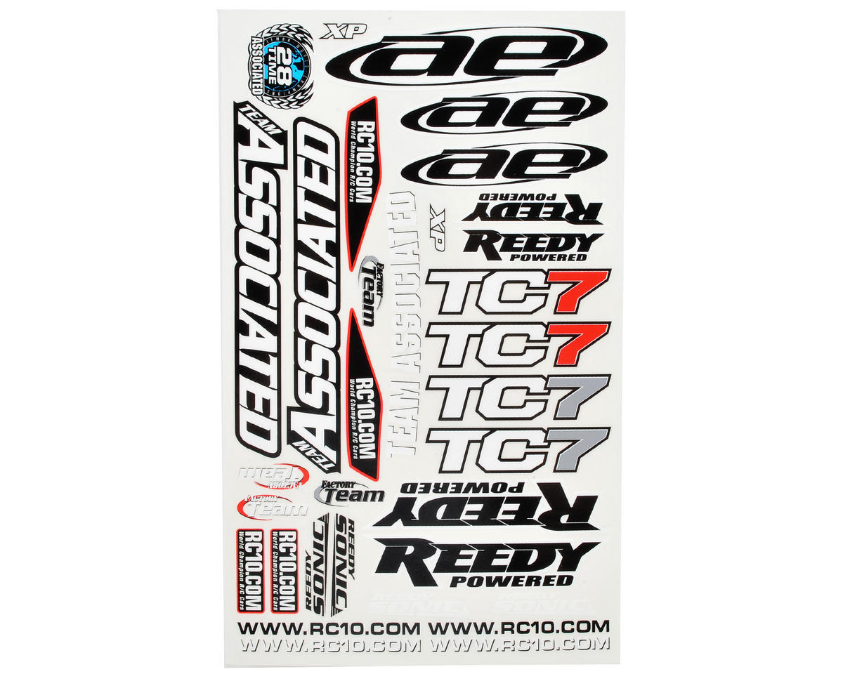 TC7 Decal Sheet by Team Associated