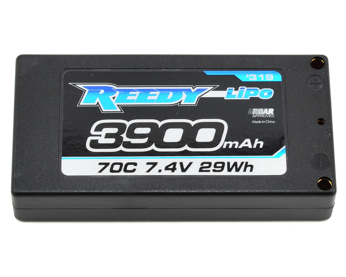 "Reedy ""Low-Profile"" 2S Hard Case LiPo Shorty Battery Pack 70C (7.4V/3900mAh) (Team Associated RC10 B4.1)"
