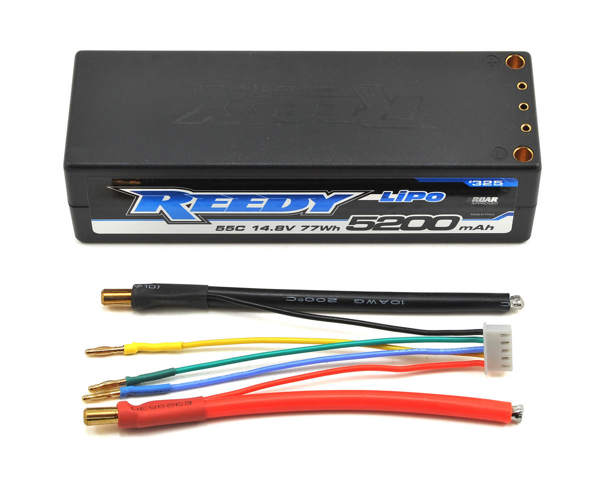 Reedy 4S Hard Case LiPo Battery Pack 55C (14.8V/5200mAh) (Team Associated RC8.2e)