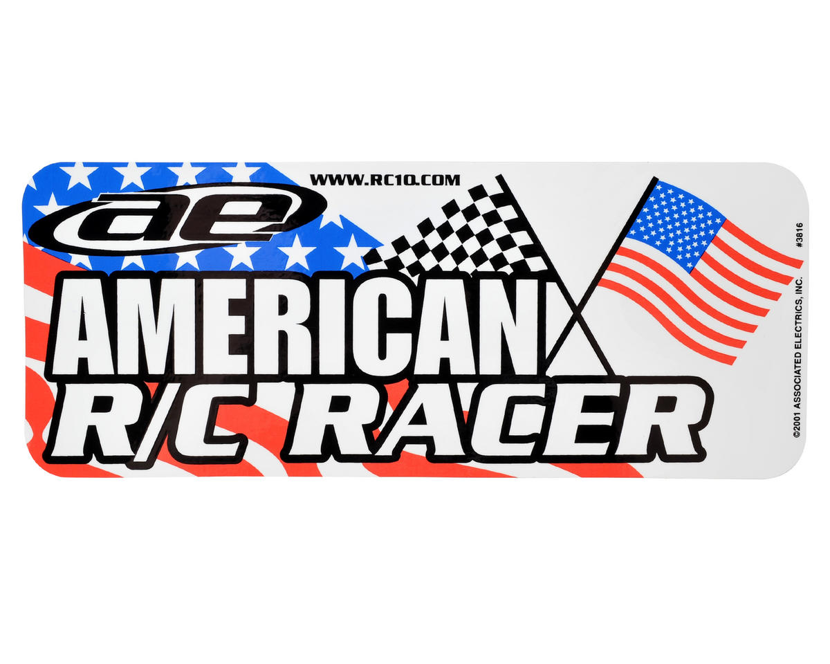 "Team Associated ""American R/C Racer"" Bumper Sticker Decal"
