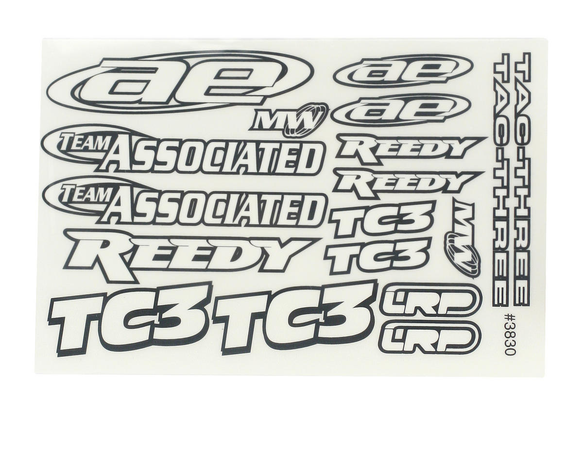 Team Associated Nitro TC3 Decal Sheet