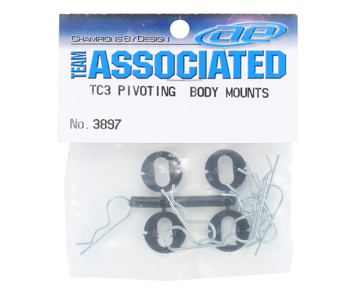 Team Associated Pivoting Body Mount Set (8)