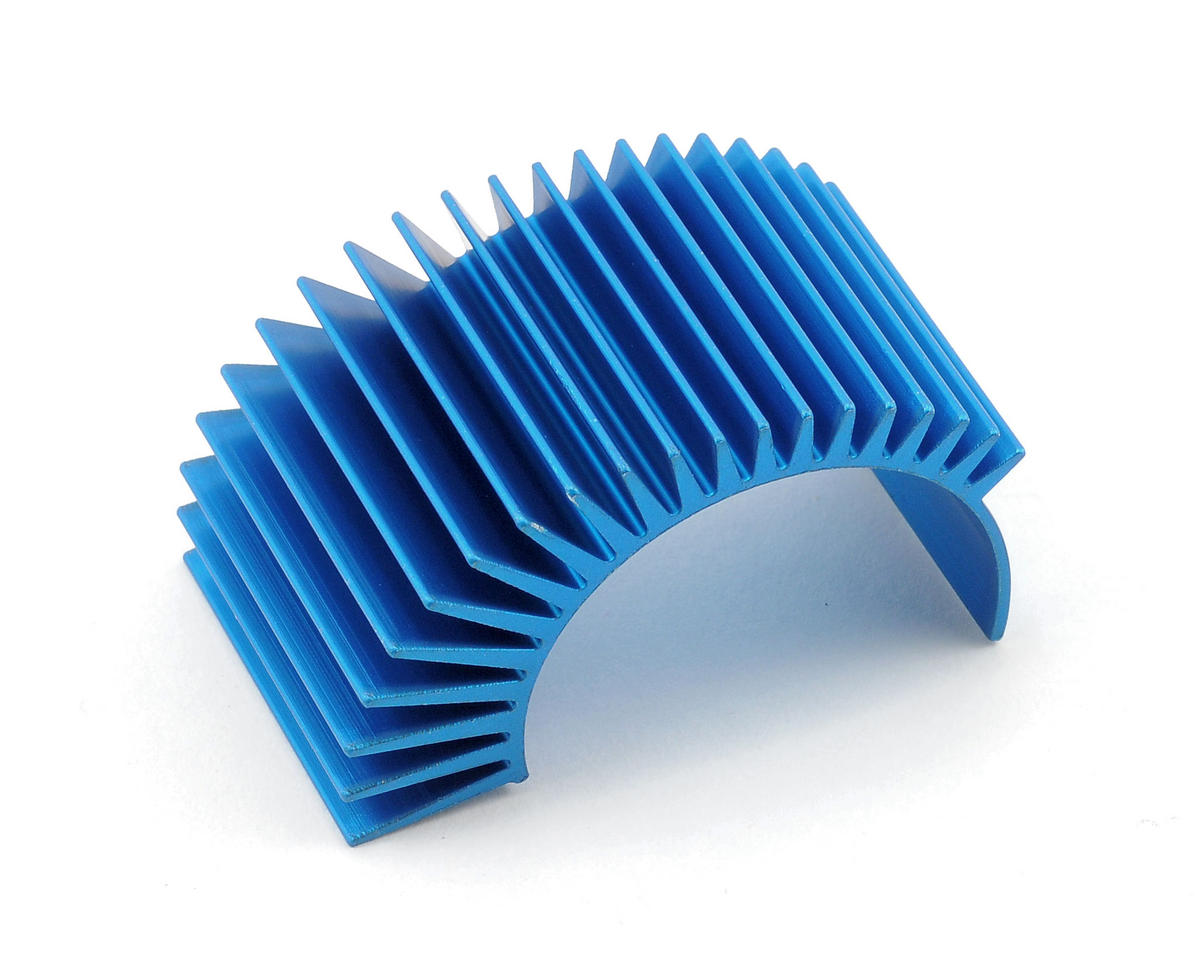 Team Associated TC4 Factory Aluminum Radial Clip-On Heatsink (Blue) (Long)