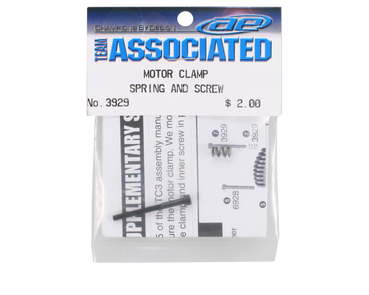 Team Associated Motor Clamp Spring & Screw (TC3)