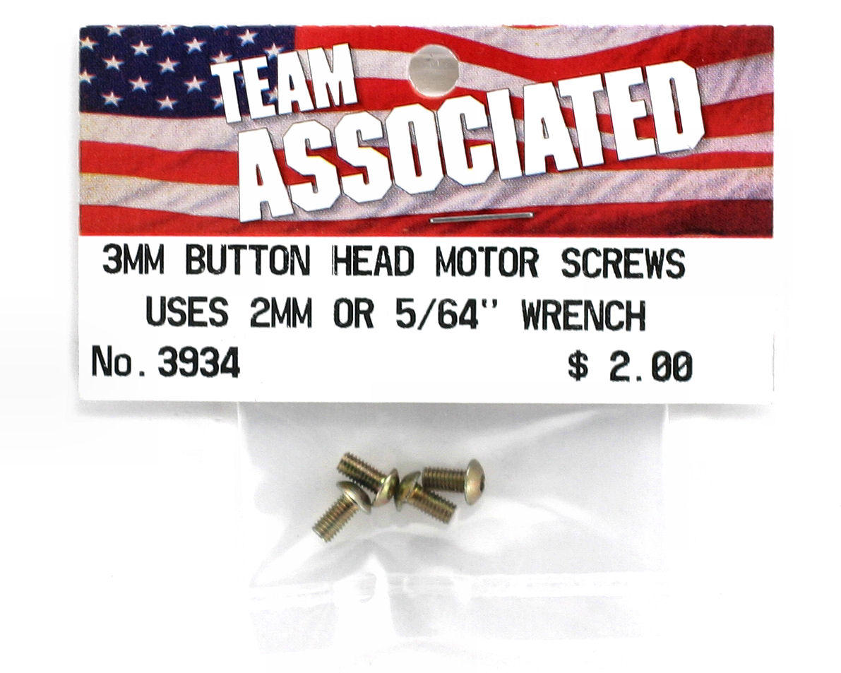 Team Associated 3mm Button Head Screws (5)