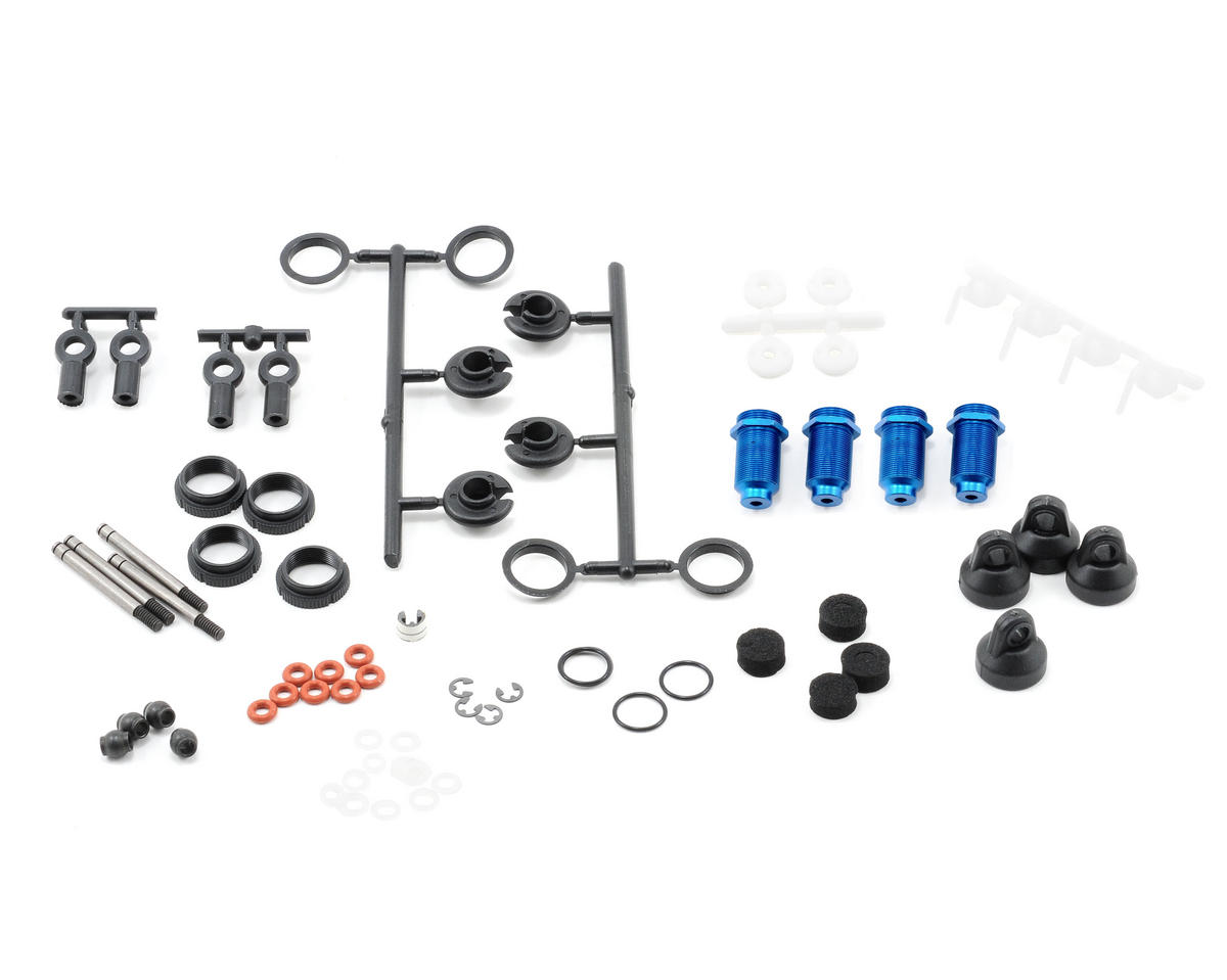 Team Associated TC4 Factory Anodized Thread Shock Kit (Blue)
