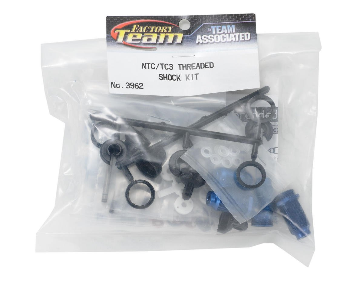 Team Associated Factory Team Anodized Thread Shock Kit (Blue)