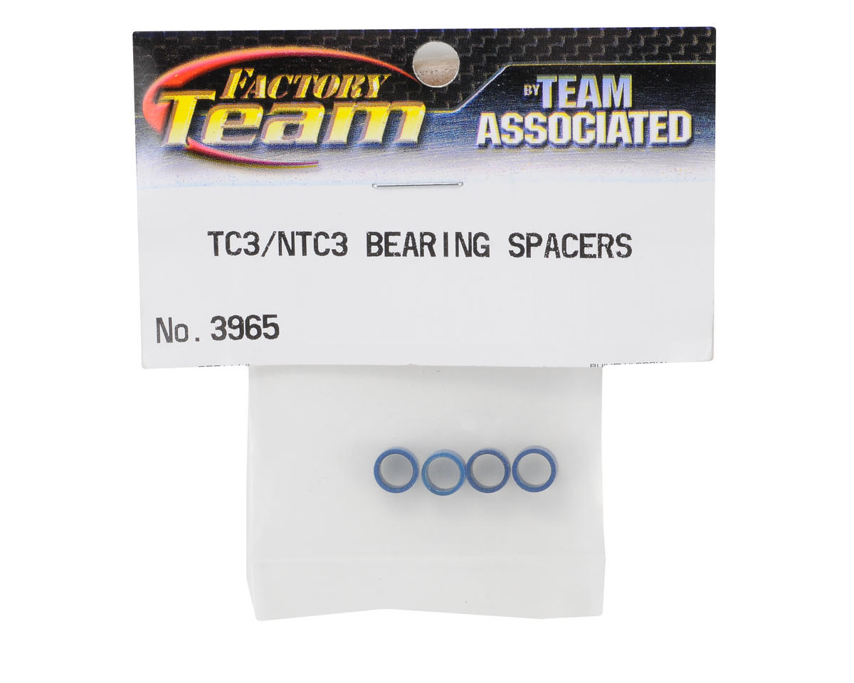 Factory Team Axle Bearing Spacer (Blue) (4) by Team Associated