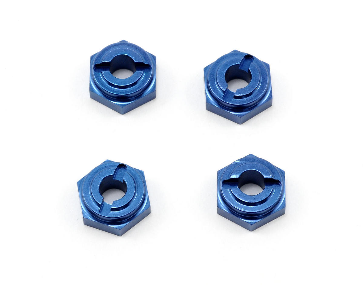 Team Associated Aluminum Hex Drive (Blue) (4)