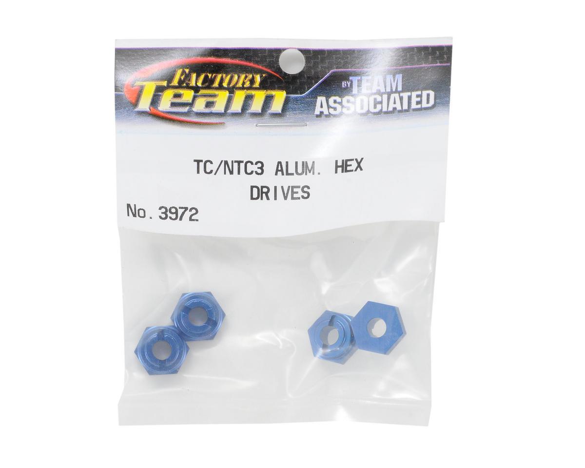 Aluminum Hex Drive (Blue) (4) by Team Associated