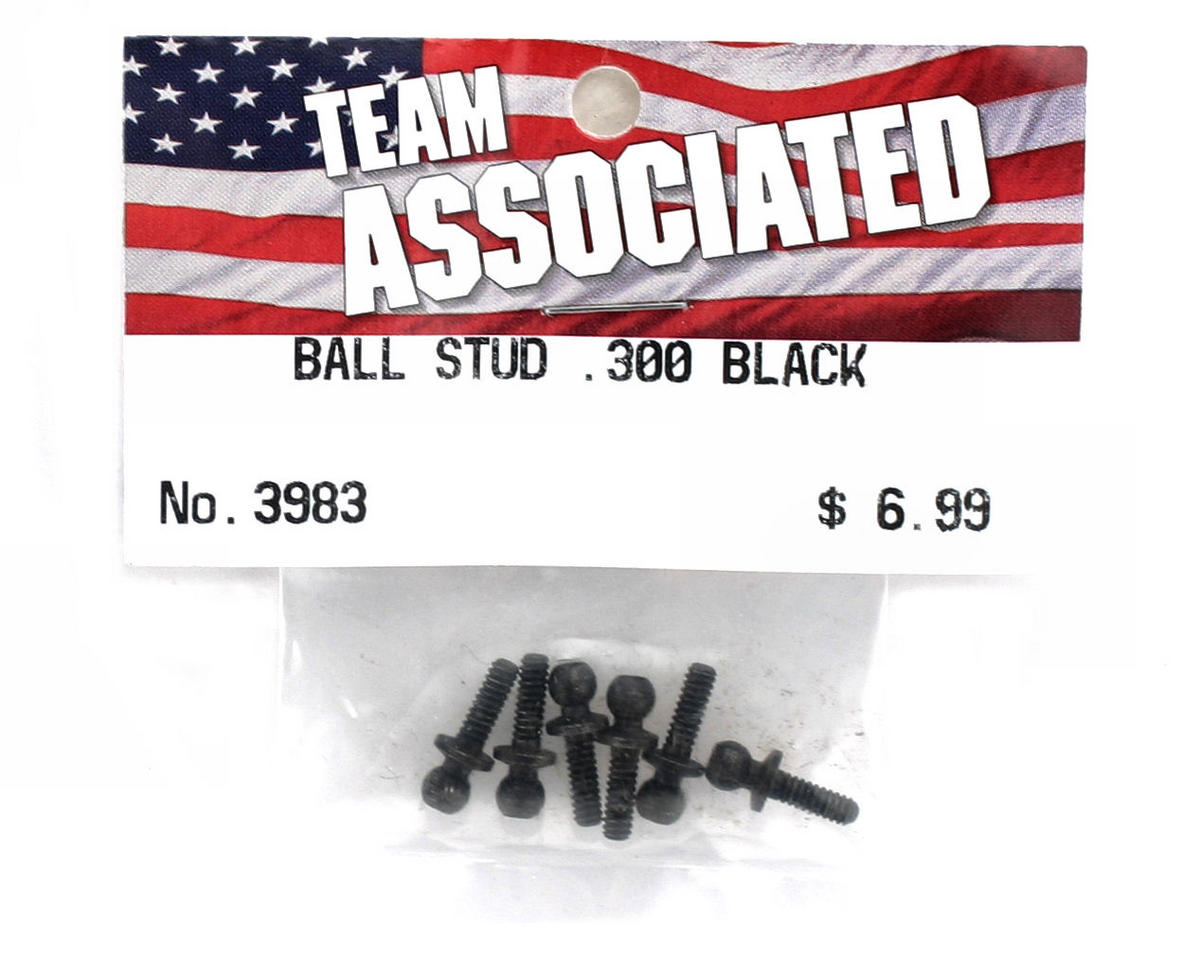 "Team Associated .300"" Ball Stud (Black) (6)"