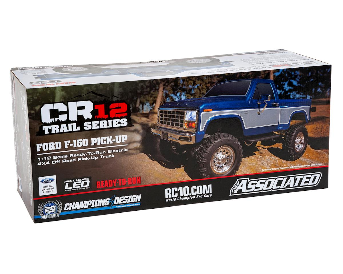 Team Associated Cr12 Ford F 150 Truck Rtr 1 12 4wd Rock Crawler 1980 F150 Brush Guards Blue W 24ghz Radio Battery Charger
