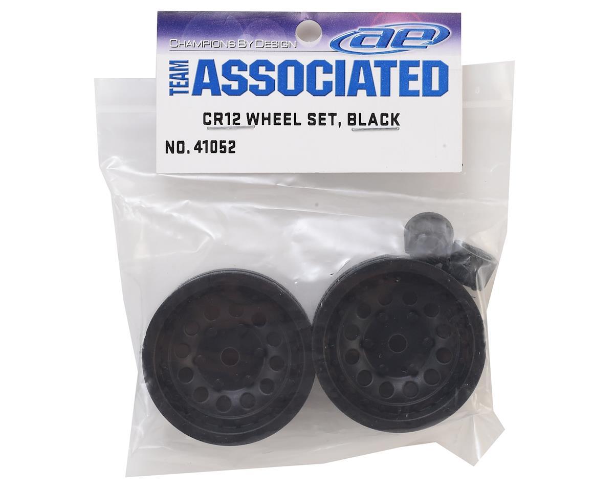 Image 4 for Team Associated 12mm Hex CR12 Wheel w/Caps (Black) (2)