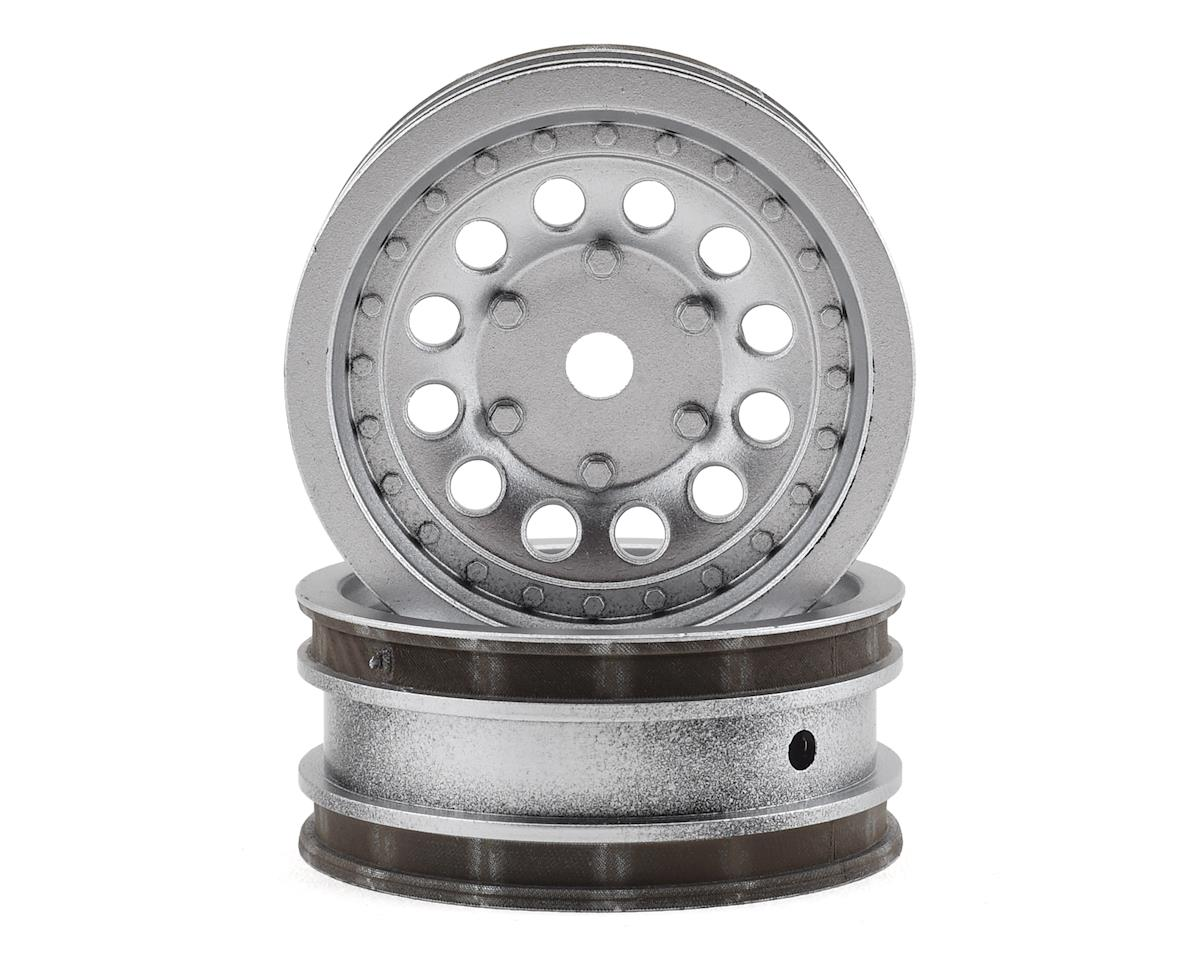 Team Associated CR12 Wheel Set (Satin Silver) (2)