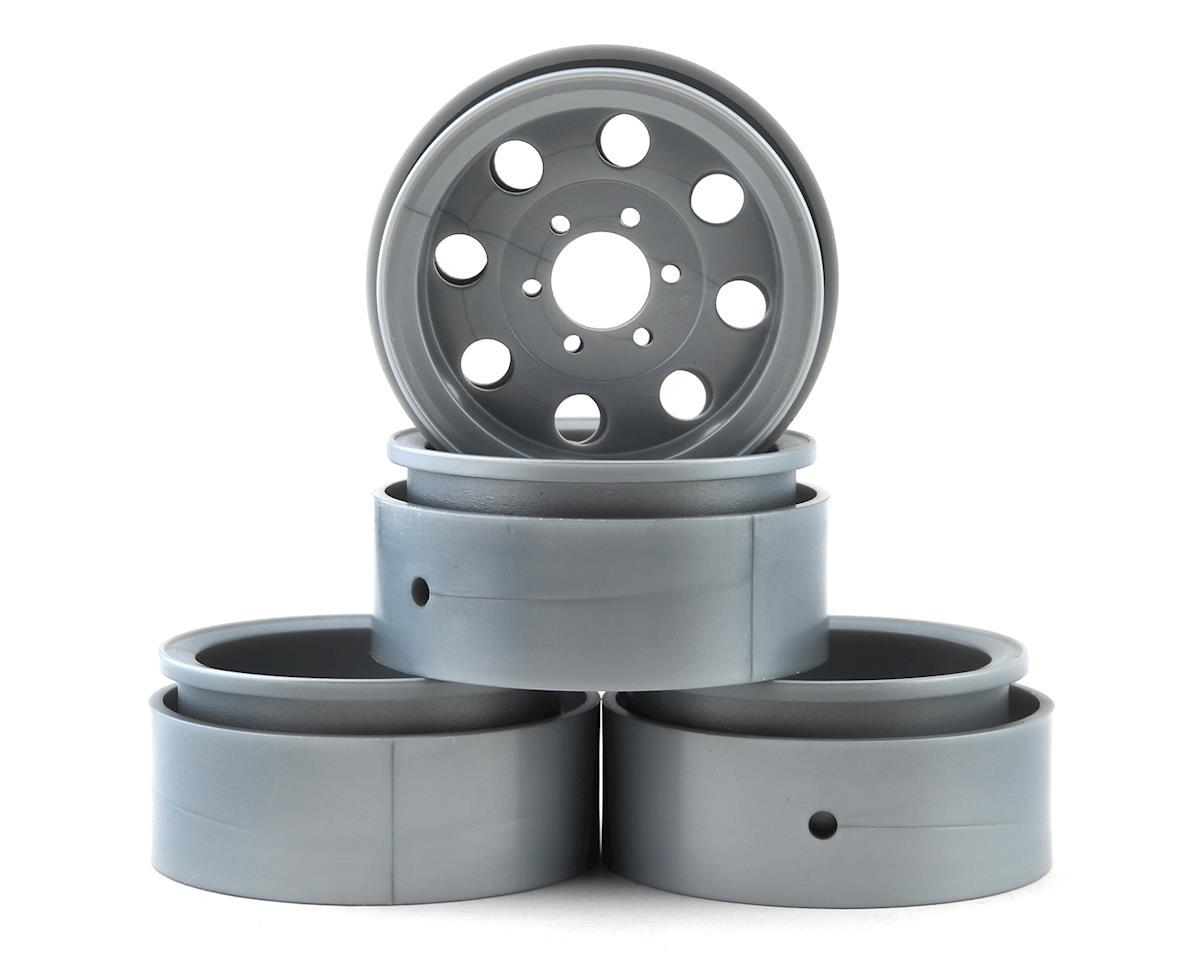 "Element RC Enduro 1.9"" The Ocho Beadlock Crawler Wheels (Silver)"