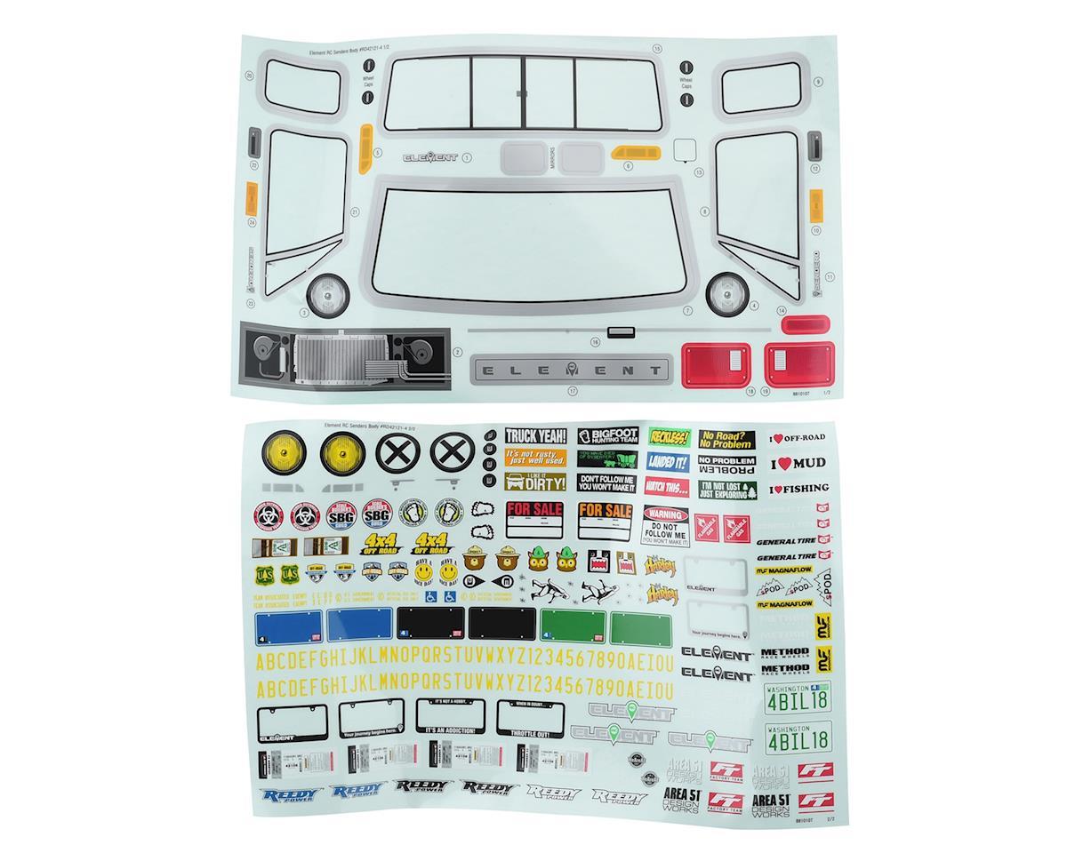 Element RC Sendero Body Set (Clear)