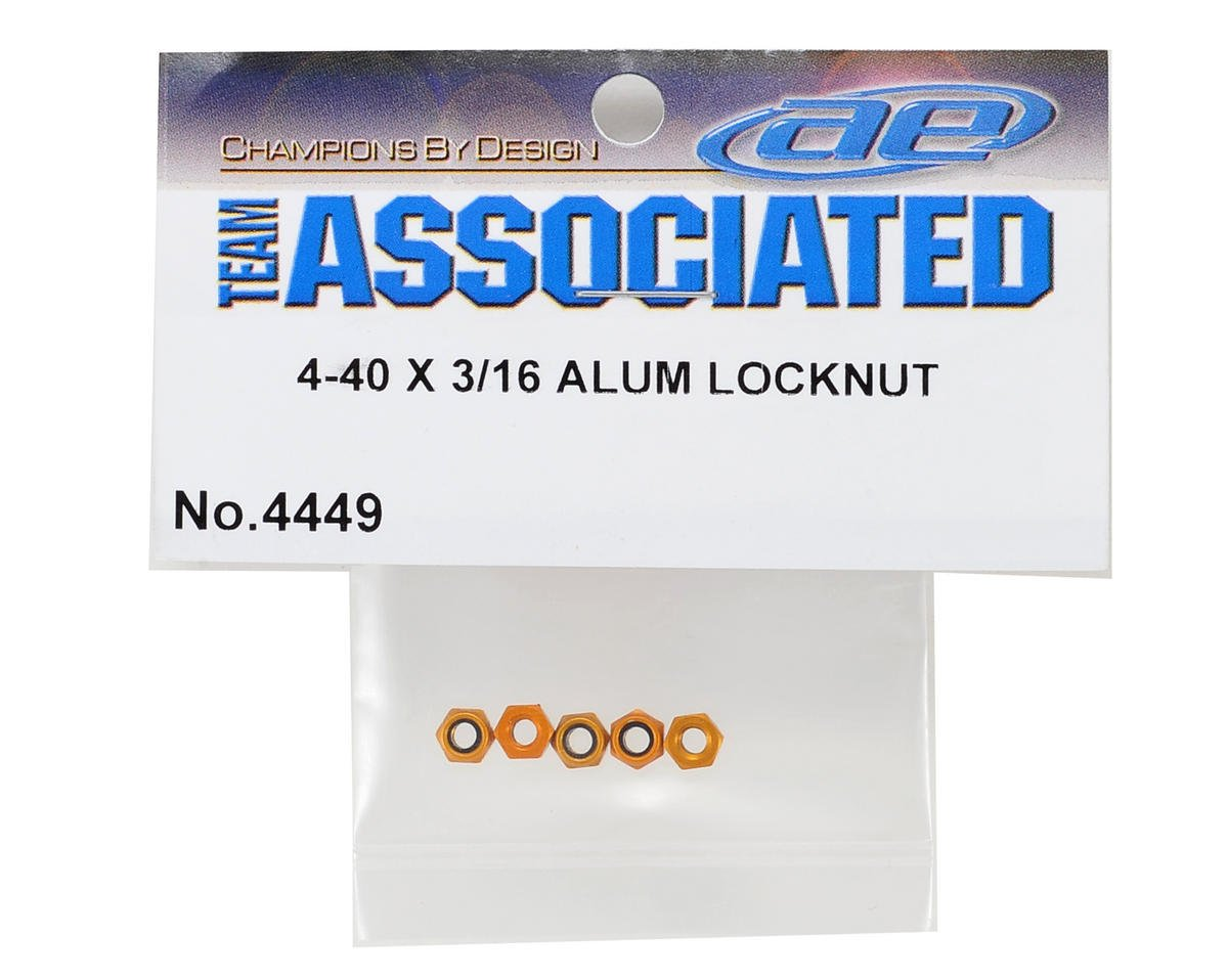 Team Associated 4-40 Aluminum Locknut (5)