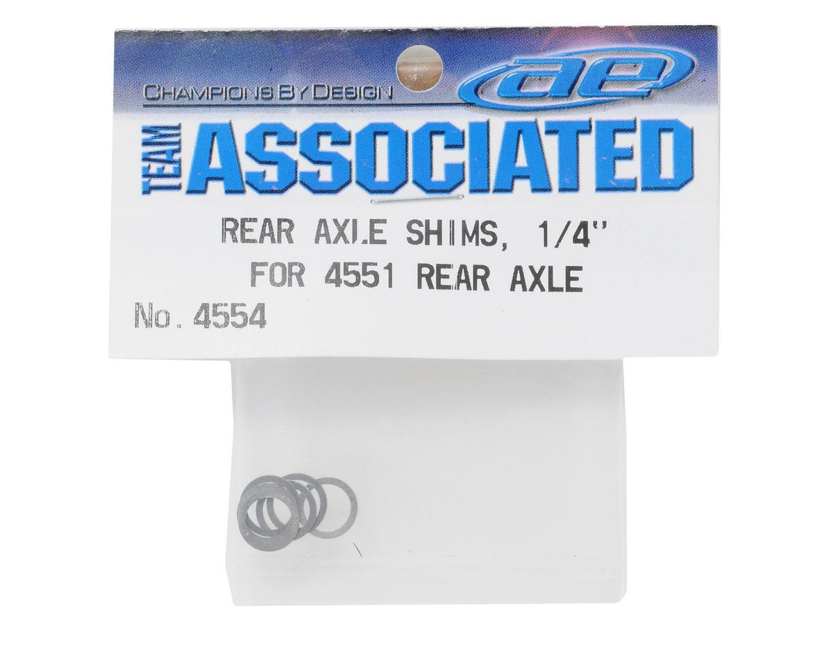 "Team Associated 1/4"" Rear Axle Shim (6)"