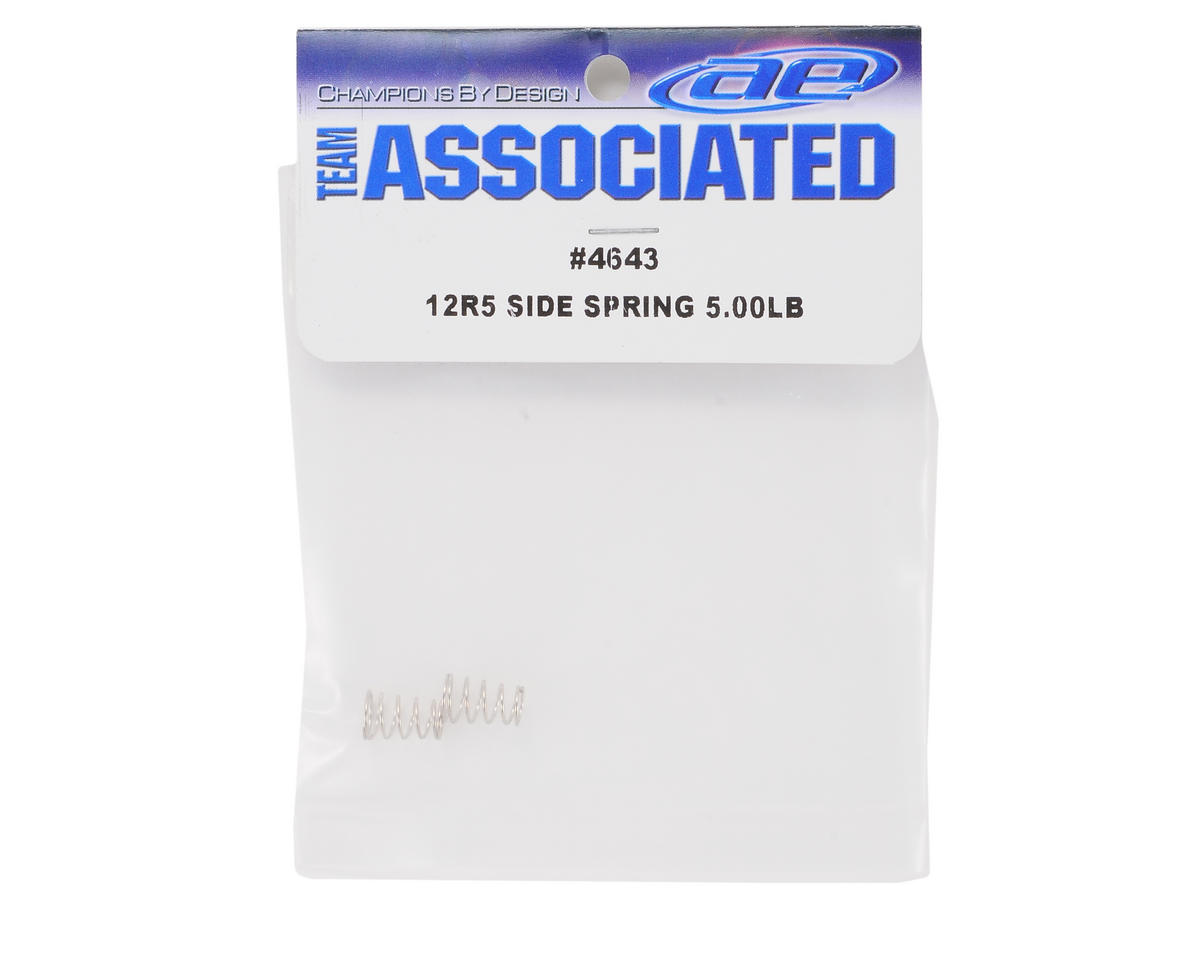 Team Associated Side Spring Set (Silver - 5.00lbs) (2)