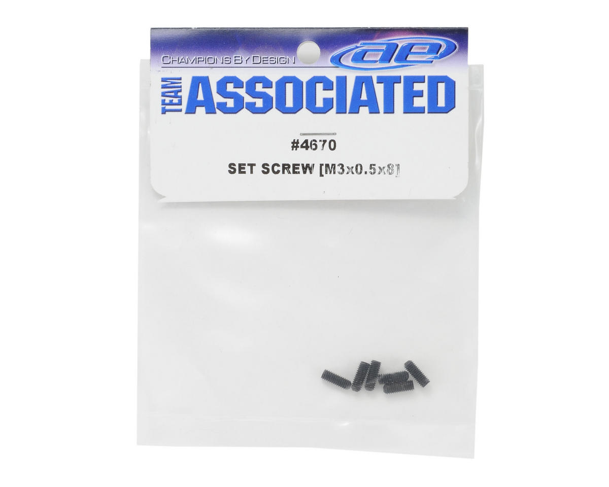 Team Associated 3x0.5x8mm Set Screw (6)
