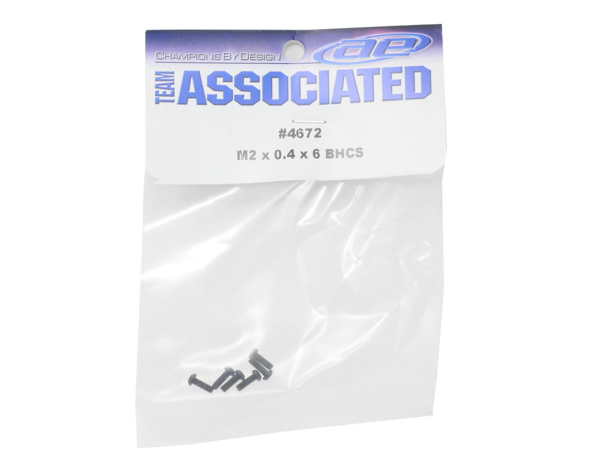 Team Associated 2x0.04x6mm Button Head Screw (6)