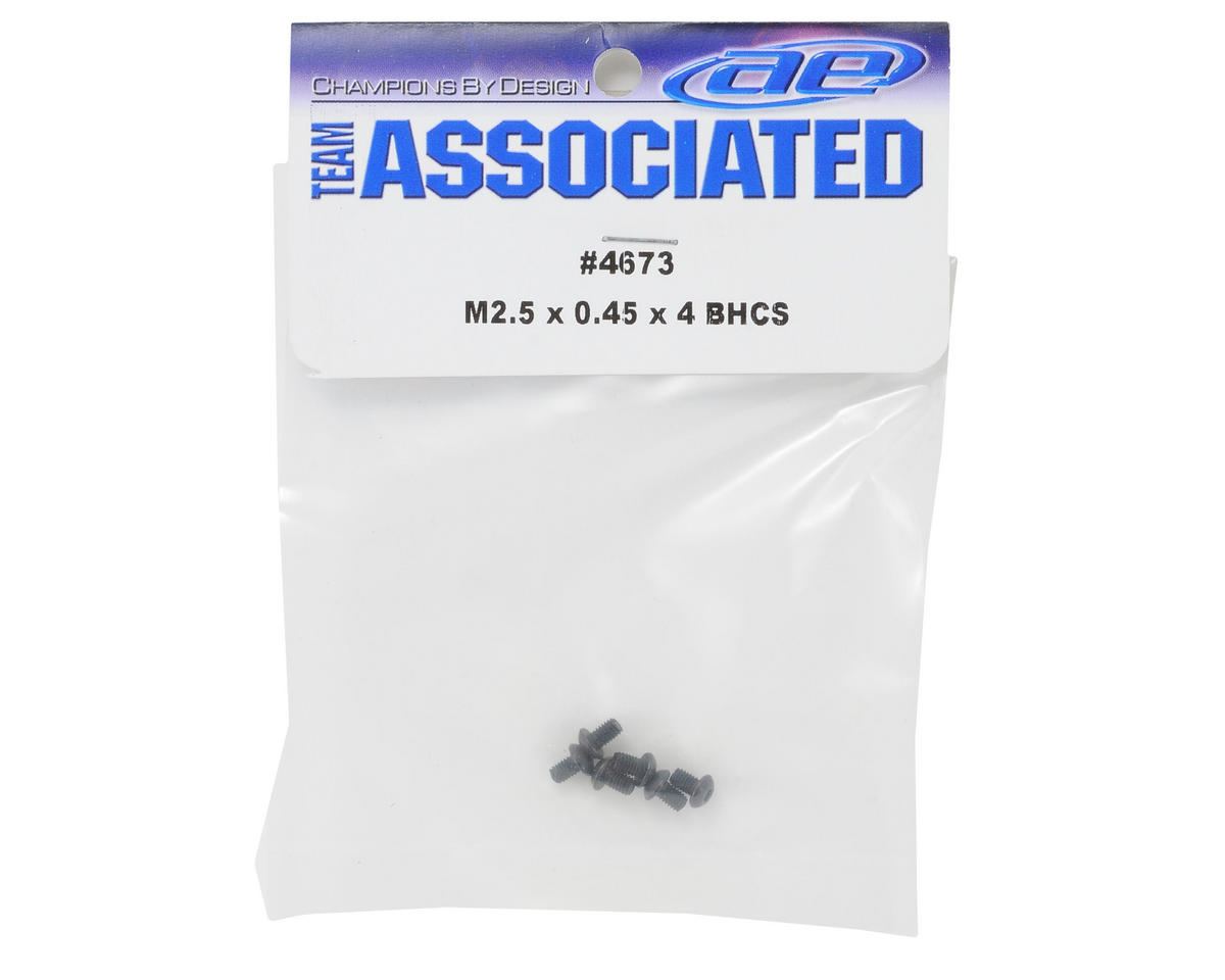 Team Associated 2.5x0.45x4mm Button Head Screw (6)