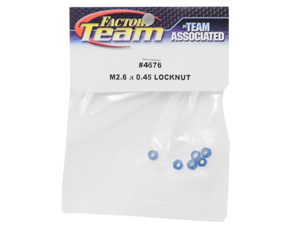 Team Associated 2.5x0.45mm Locknut (6)