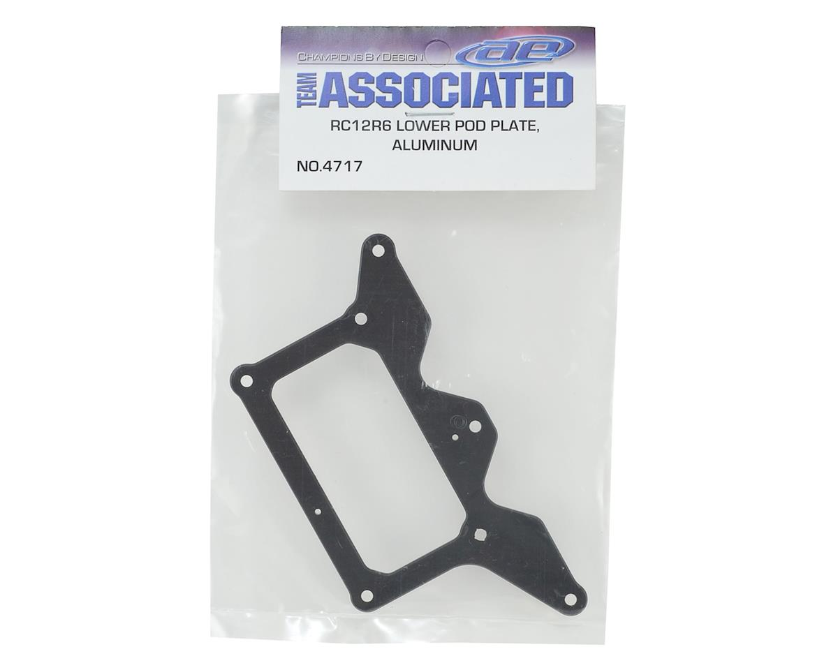 Team Associated RC12R6 Aluminum Lower Pod Plate