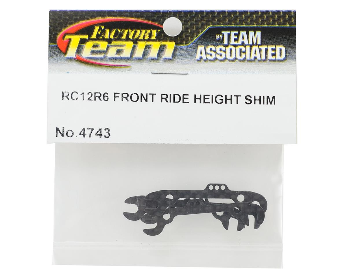 Team Associated RC12R6 Factory Team Graphite Front Ride Height Shims