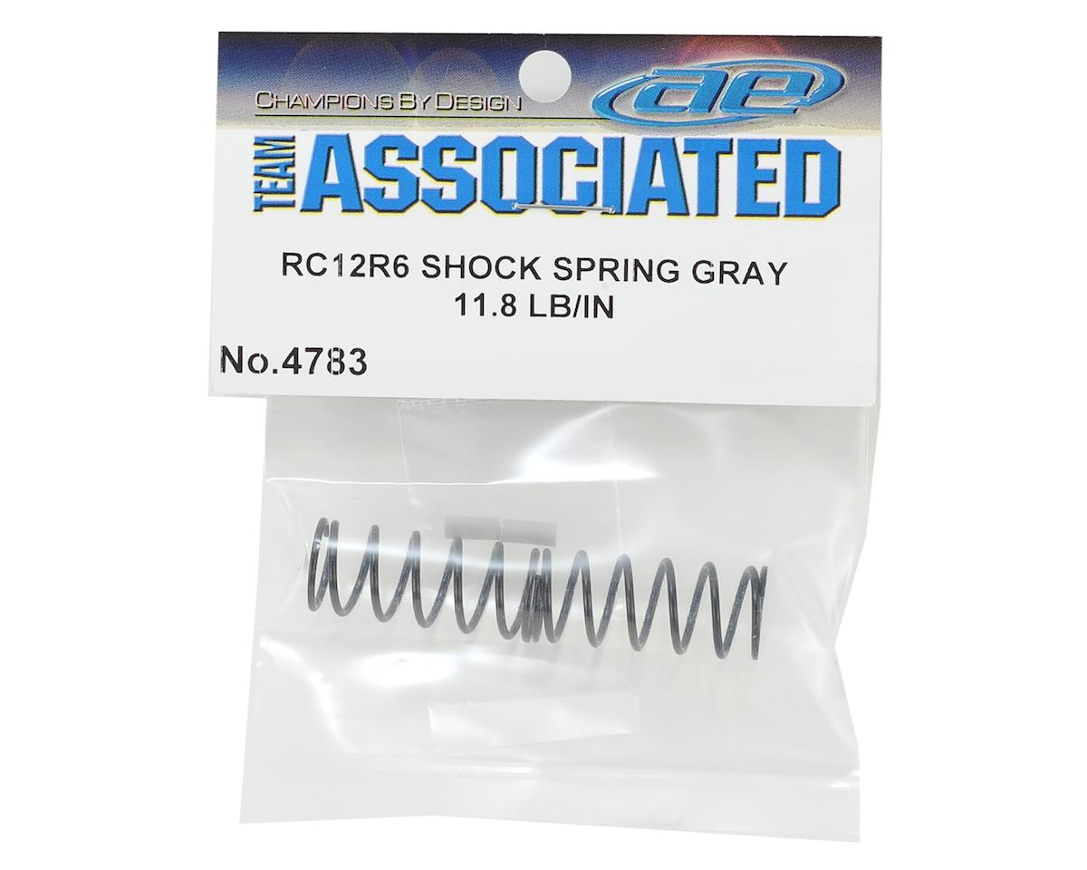 Team Associated RC12R6 Shock Spring (Gray - 11.8 lb/in)
