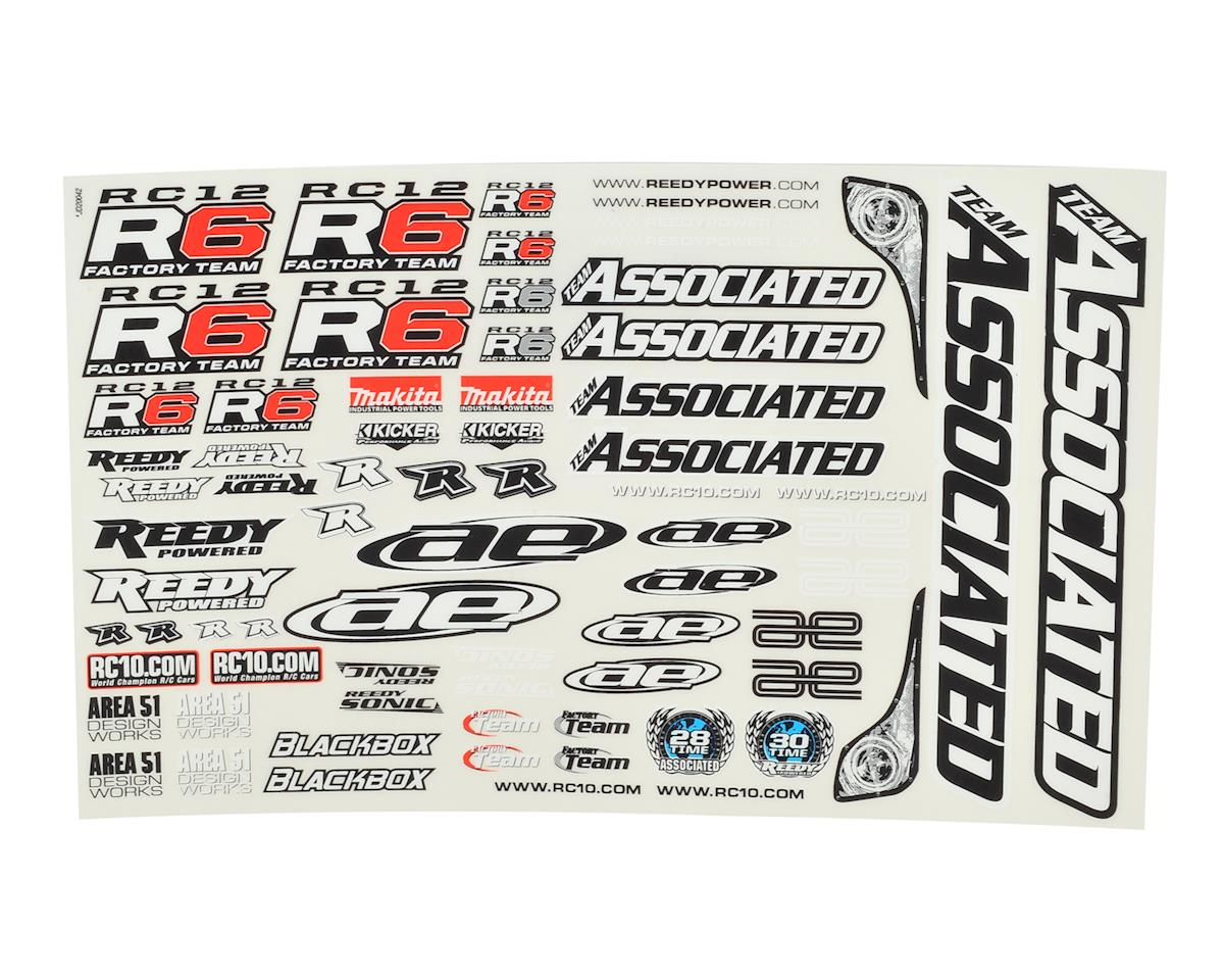 Team Associated RC12R6 Decal Sheet