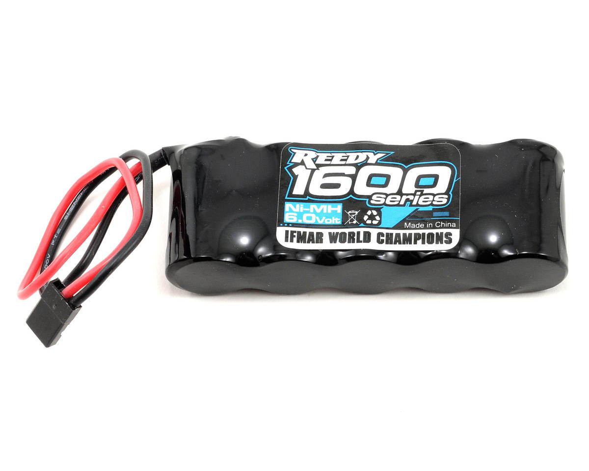 1600 Series NiMH Flat Receiver Pack (6.0V/1600mAh) by Reedy