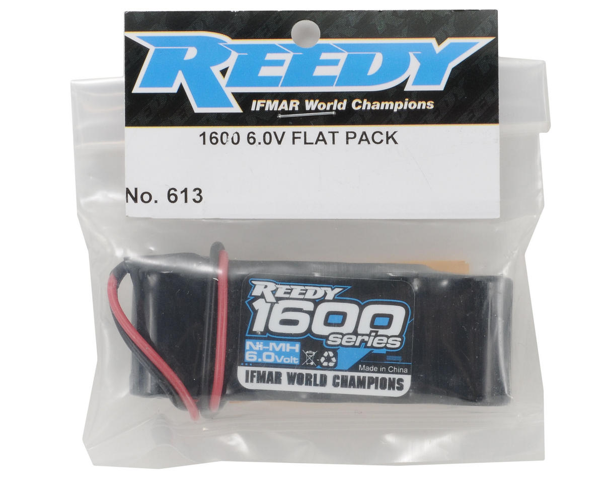 Image 2 for Reedy 1600 Series NiMH Flat Receiver Pack (6.0V/1600mAh)