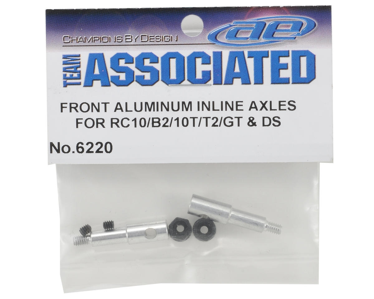 Team Associated Aluminum Inline Axle Set (2) (RC10/B2/B3,T/T2/T3)