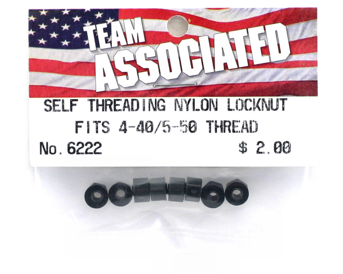 Team Associated Nylon Self-Threading Locknut (Fits 4-40 or 5-50) (8)